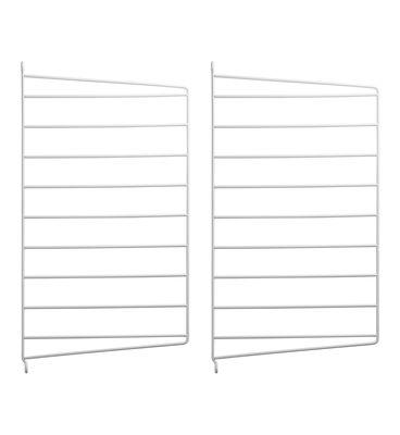 Mobilier - Etagères & bibliothèques - Montant mural String® system / H 50 x P 30 cm - Set de 2 - String Furniture - Blanc - Métal laqué