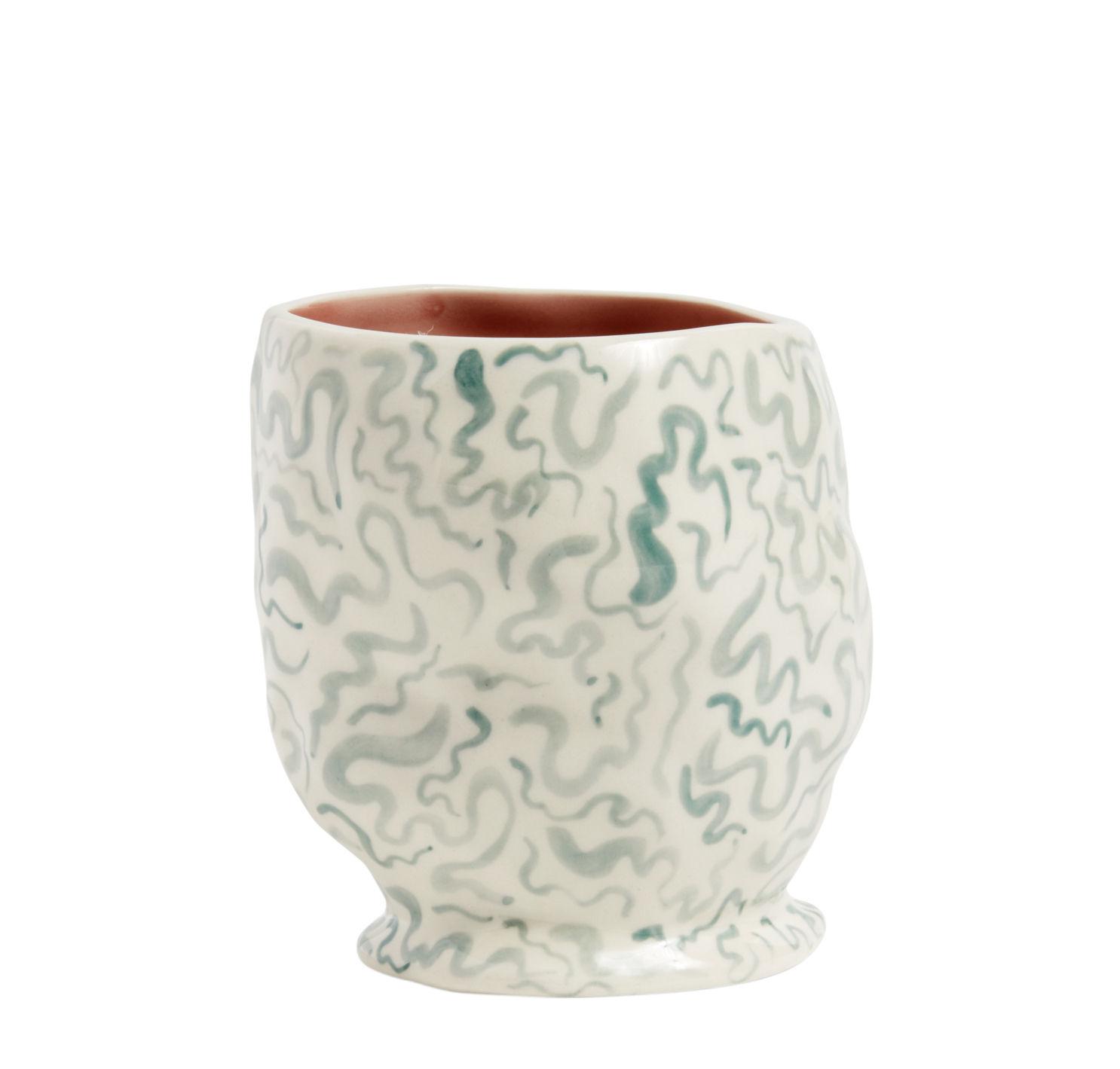 Arts de la table - Tasses et mugs - Mug Sherbet / Fait main - Grès - Hay - Blanc / Motifs colorés - Grès