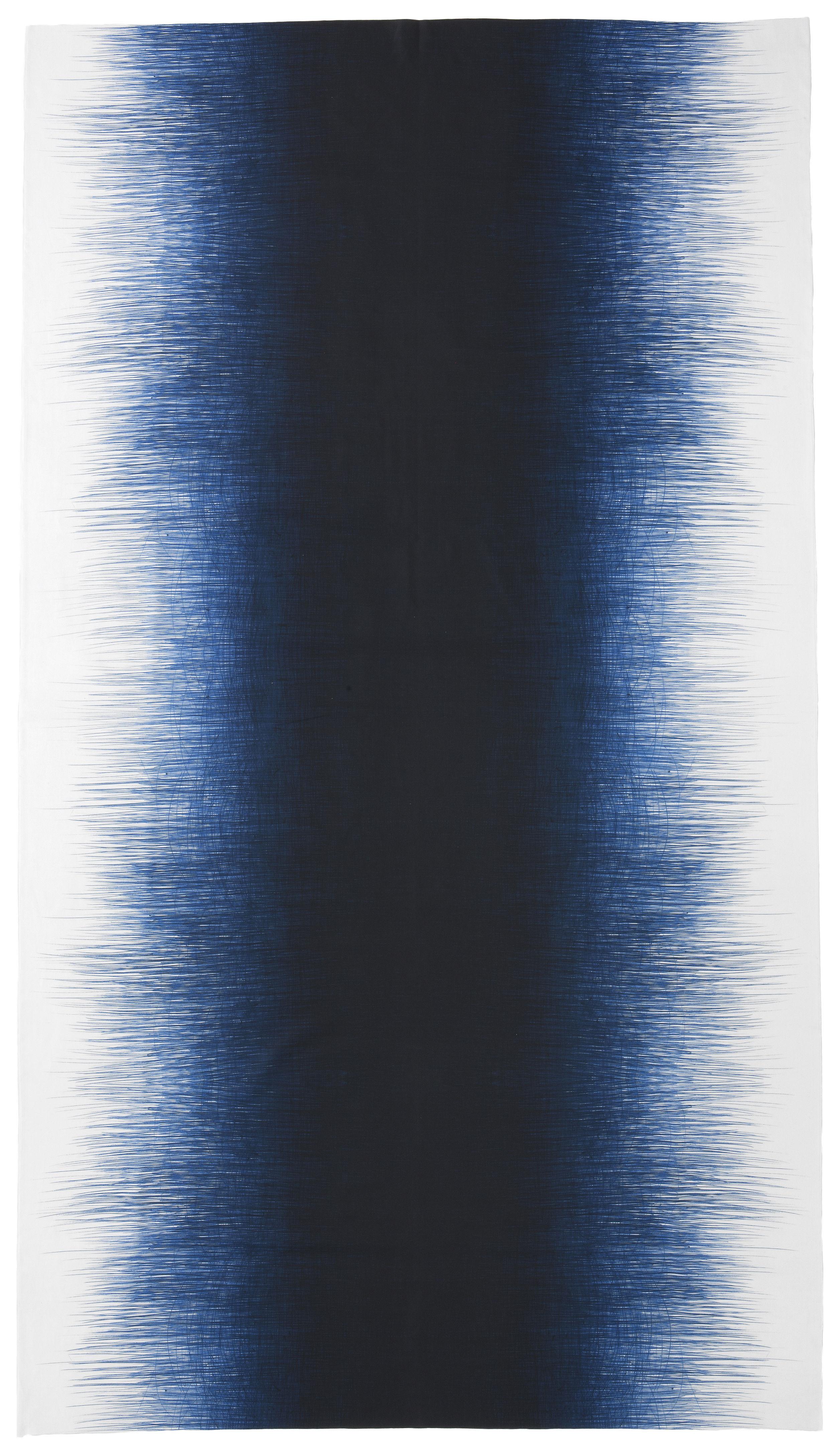 Arts de la table - Nappes, serviettes et sets - Nappe en tissu Pen / 140 x 240 cm - Ferm Living - Bleu nuit - Coton
