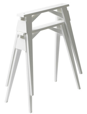 Furniture - Office Furniture - Arco Pair of trestles by Design House Stockholm - Trestles / White - Lacquered solid wood