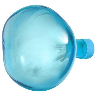 Patère Bubble Large / Ø 15 cm - Verre soufflé bouche - Petite Friture bleu en verre