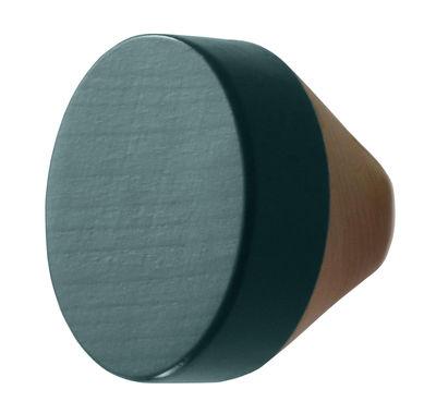 Mobilier - Portemanteaux, patères & portants - Patère Clou / Ø 7 cm - ENOstudio - Bleu de prusse - Hêtre naturel, Hêtre peint
