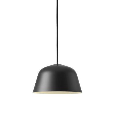Lighting - Pendant Lighting - Ambit Mini Pendant - / Ø 16.5 cm - Metal by Muuto - Black - Aluminium