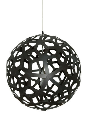 Lighting - Pendant Lighting - Coral Pendant - / Ø 60 cm - Black by David Trubridge - Black - Pine