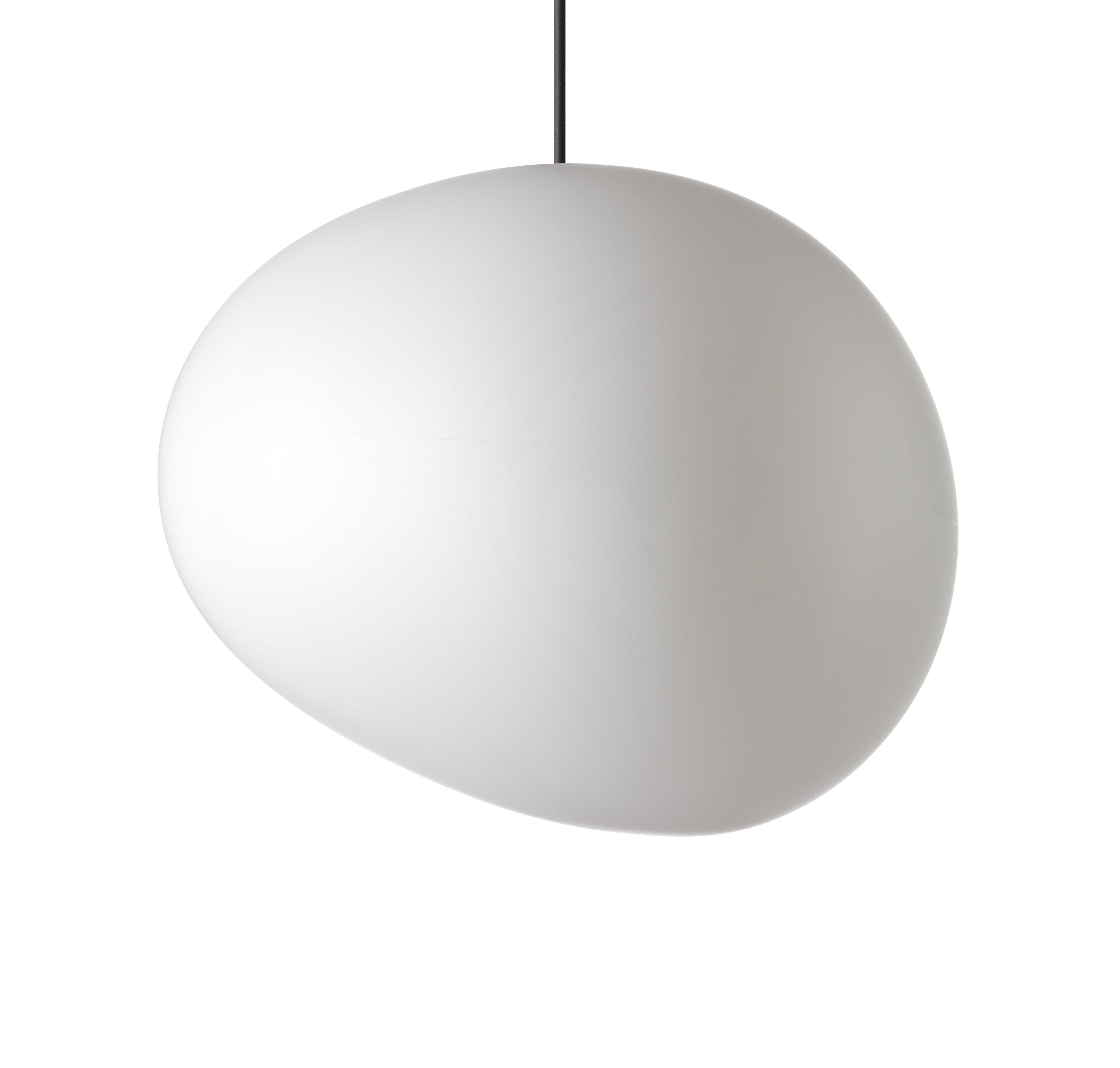 Leuchten - Pendelleuchten - Gregg Outdoor Grande Pendelleuchte / L 46 cm - Foscarini - Weiß - Größe L / L 46 cm - Polyäthylen