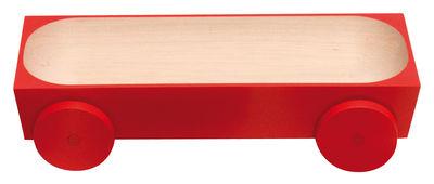 Arts de la table - Plats - Plat Kart - K03 sur roues / 38,5 x 13 cm - Y'a pas le feu au lac - Rouge - Bois de charme