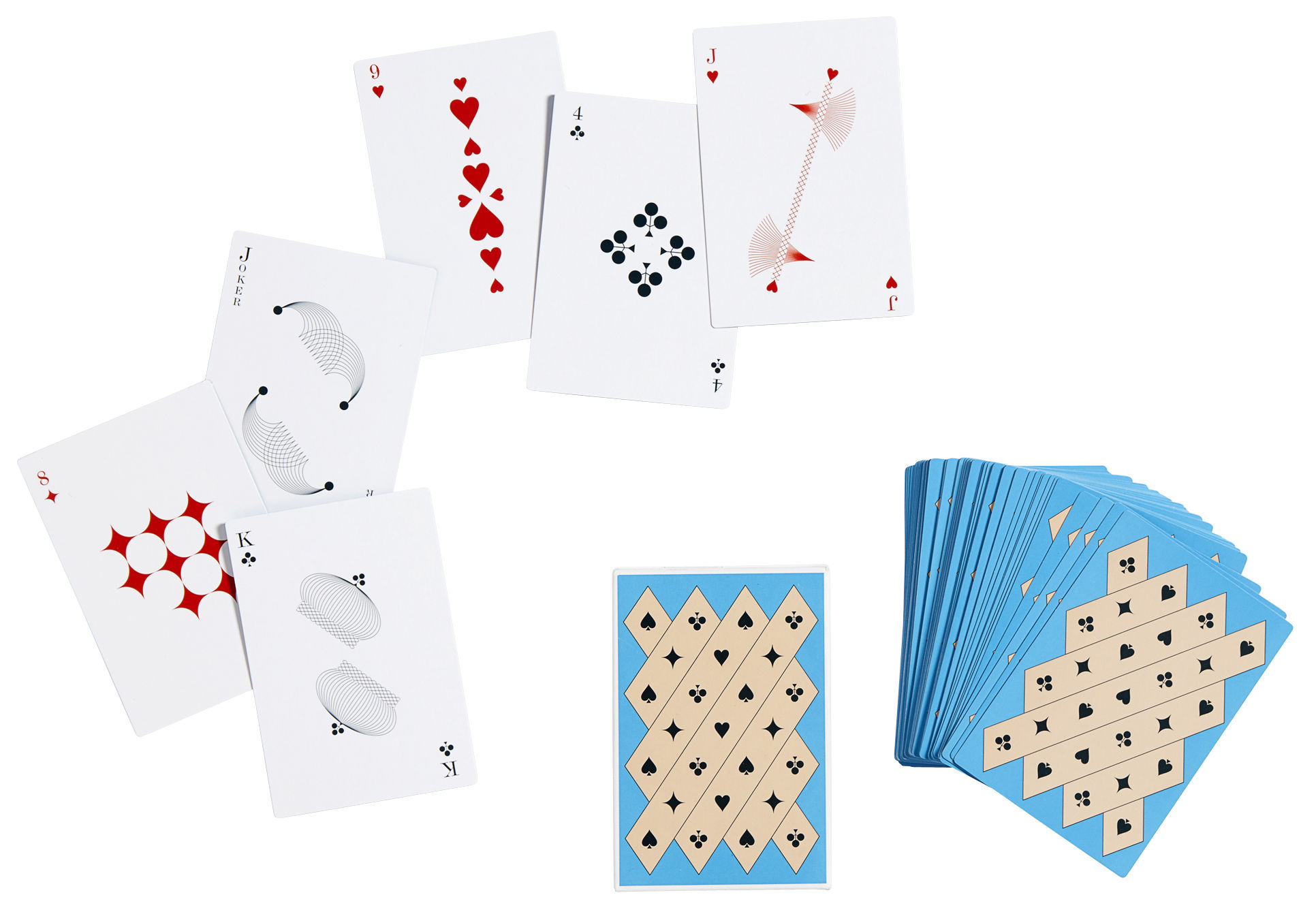 Decoration - Children's Home Accessories - Playing cards - 54 cards by Hay - Blue - Plastic coated cardboard