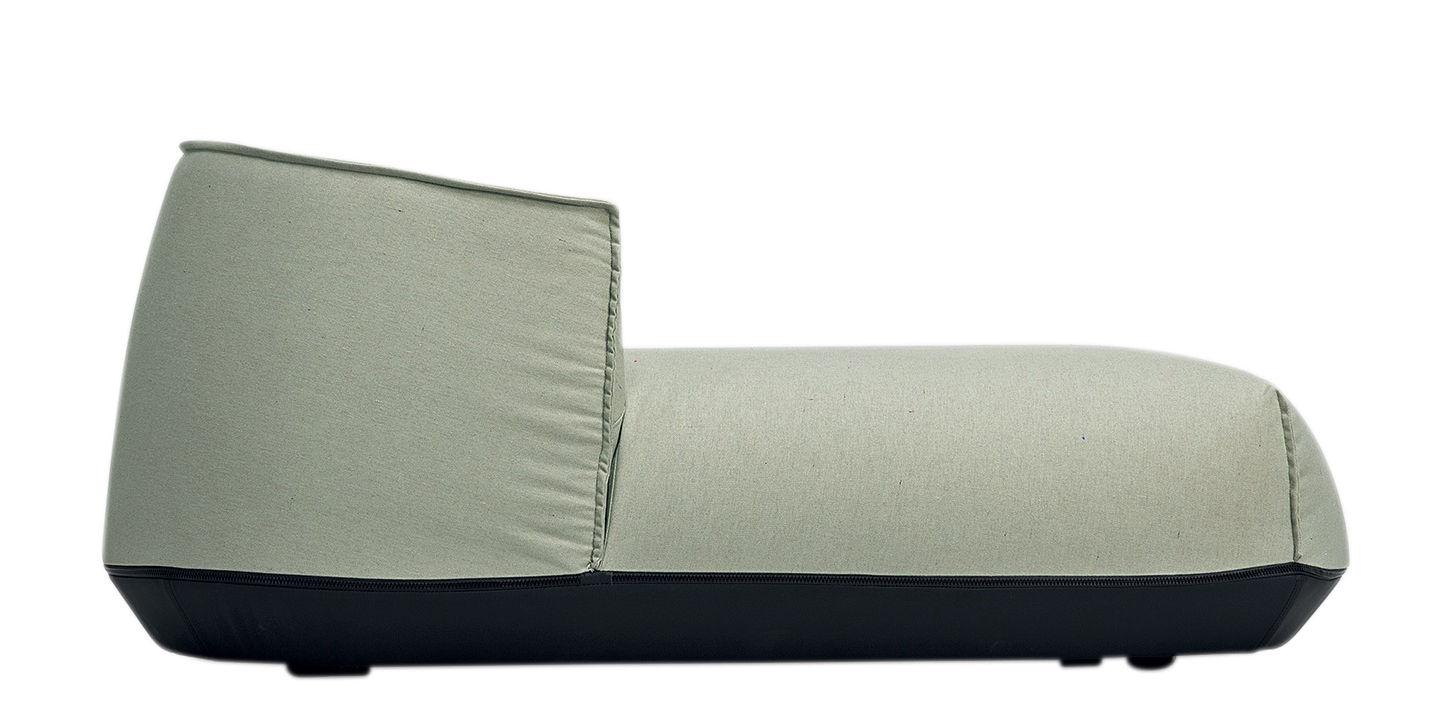 Outdoor - Sedie - Poltrona Brioni - / Daybed di Kristalia - Verde muschio - Poliestere, Poliuretano, Toile Sunbrella