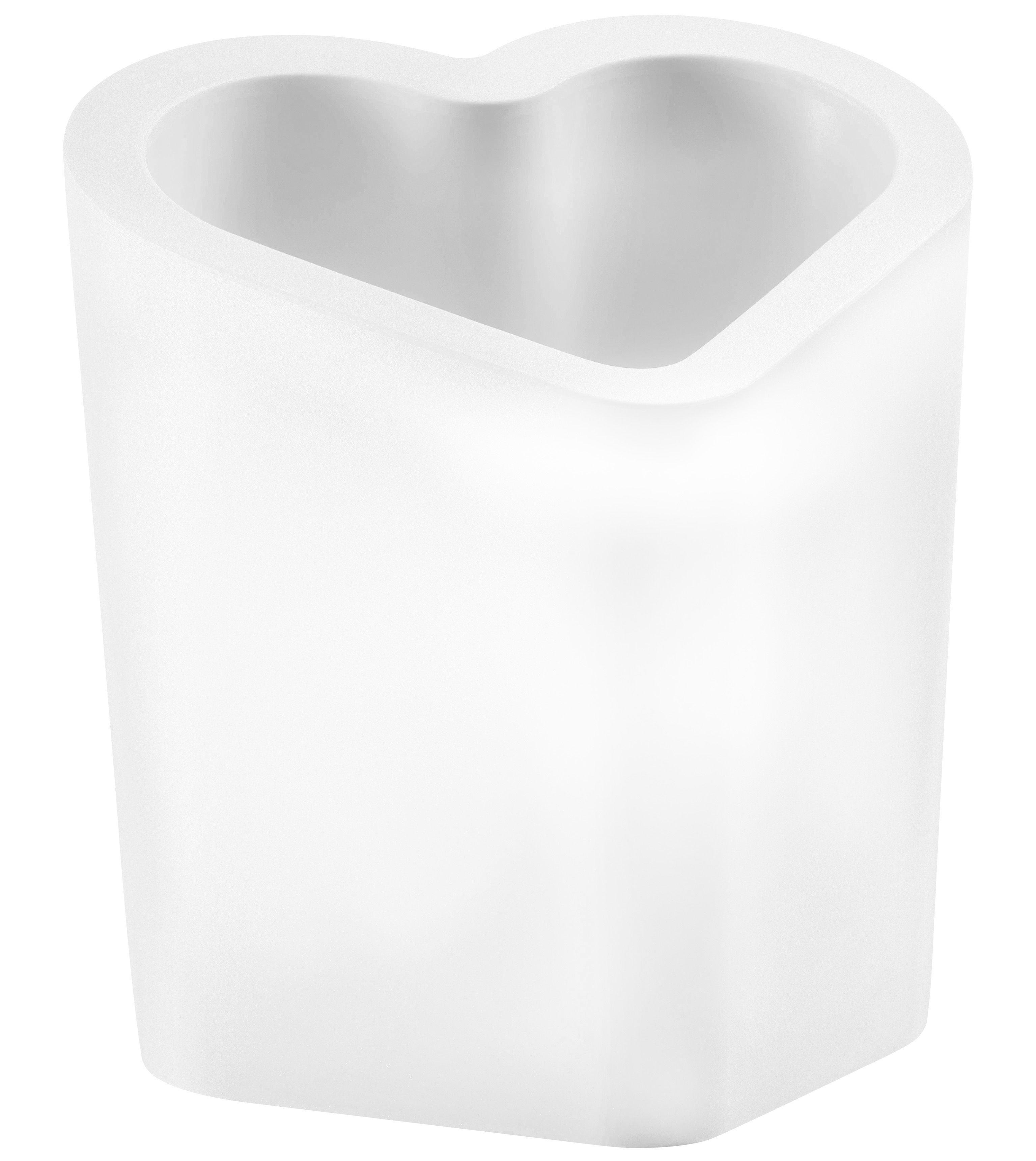 Arredamento - Mobili luminosi - Porta bottiglie luminoso Mon Amour di Slide - Bianco- Esterno - Polietilene