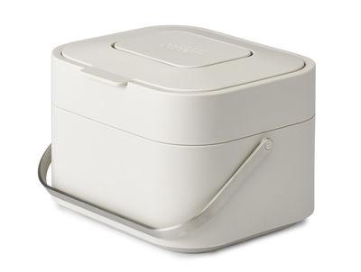 Cuisine - Poubelles de cuisine - Poubelle de tri Stack 4 litres / Pour déchets organiques - Filtre anti-odeurs - Joseph Joseph - Pierre - Inox, Polypropylène