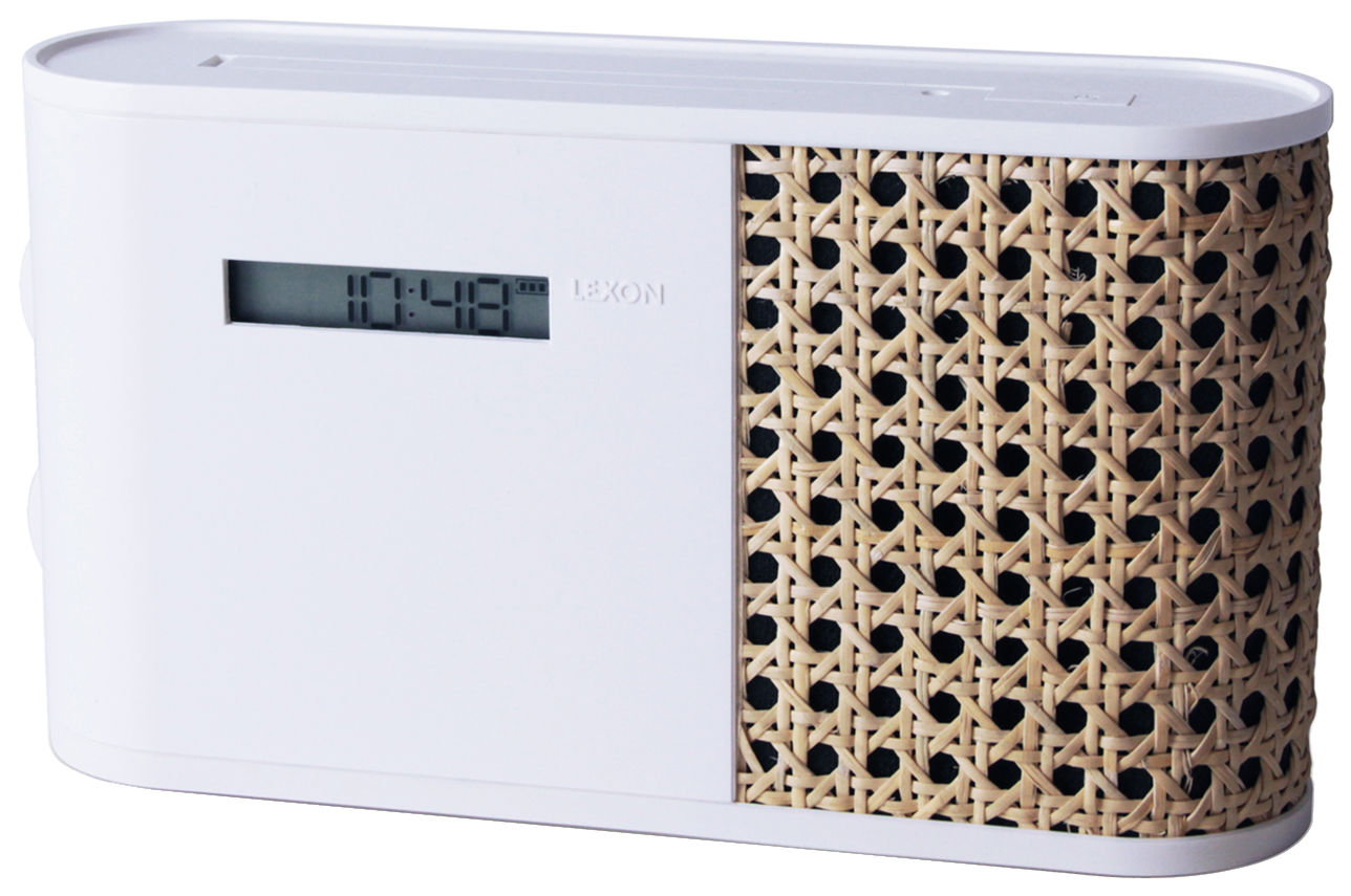 Accessoires - Réveils et radios - Radio Hybrid / Rotin - Lexon - Blanc / Rotin - ABS, Rotin