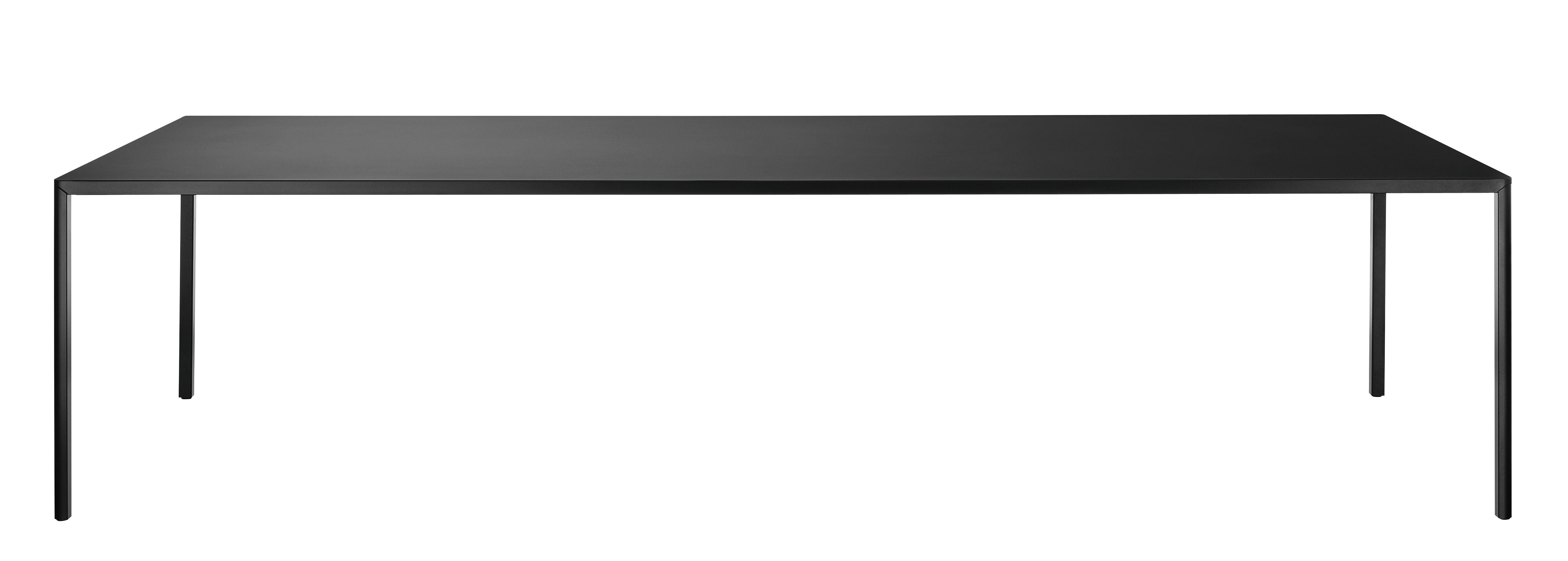 Outdoor - Tische - Passe-partout Outdoor rechteckiger Tisch / 280 x 110 cm - Magis - Schwarz - gefirnister Stahl, klarlackbeschichtetes Aluminium