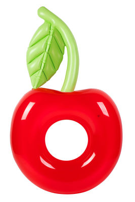 Decoration - Children's Home Accessories - Rubber ring - / Cherry - Ø 110 cm by Sunnylife - Cherry - High resistance PVC
