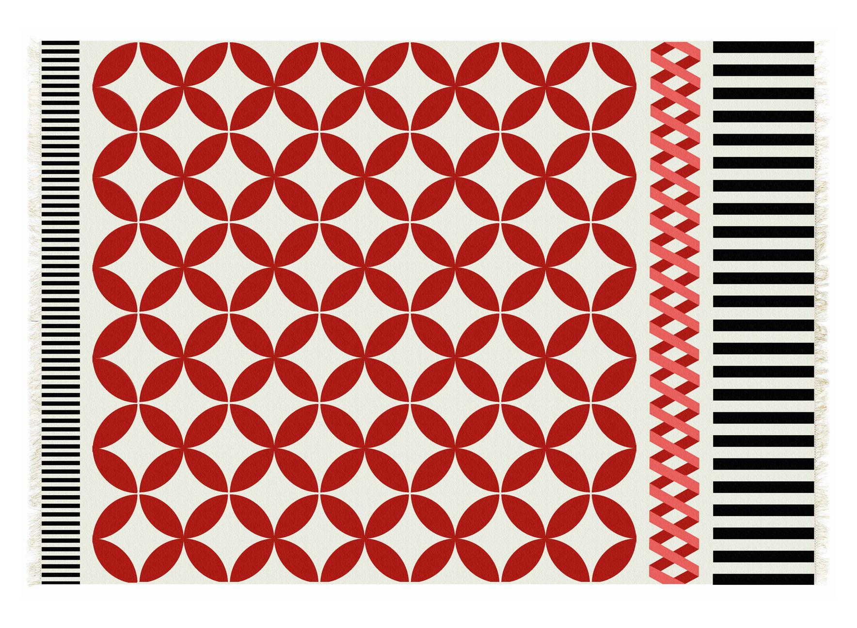 Decoration - Rugs - Kilim Catania Rug - / 240 x 170 cm by Gan - Red - Virgin wool