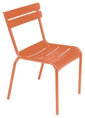 Life Style - Sedia impilabile Luxembourg di Fermob - carota - Alluminio laccato