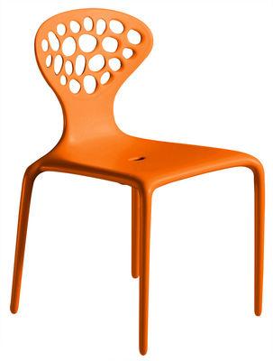 Image of Sedia impilabile Supernatural di Moroso - Arancione - Materiale plastico