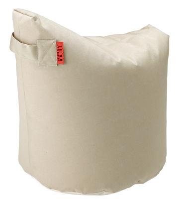 Möbel - Sitzkissen - Satellite Small Sitzkissen / H 48 cm - Trimm Copenhagen - Beige -  Microbilles EPS, Sunbrella-Gewebe