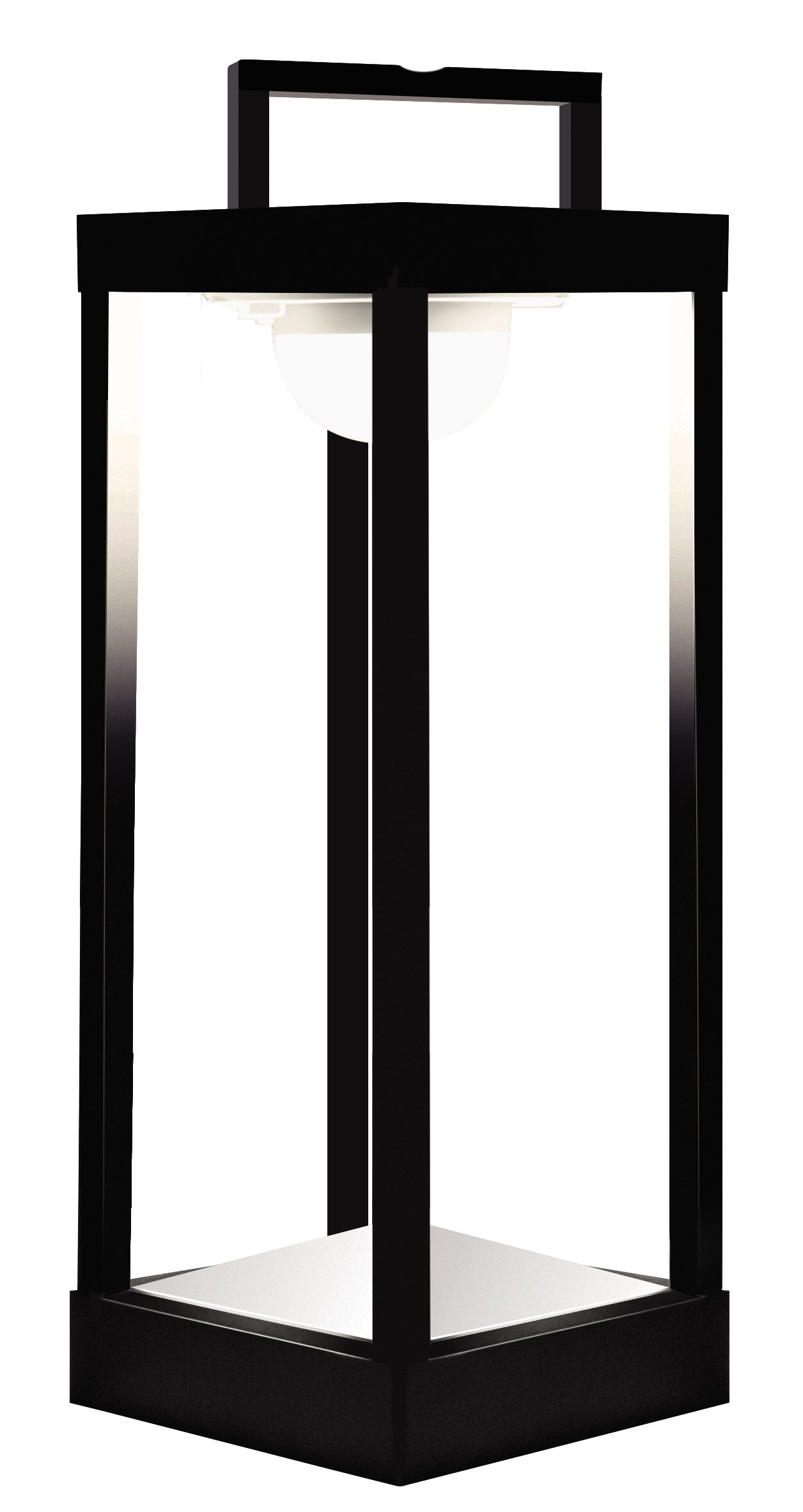 Lighting - Table Lamps - La Lampe Parc L Solar lamp - LED - Wireless - H 50 cm by Maiori - Black - Aluminium, Glass