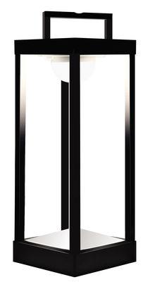 Leuchten - Tischleuchten - La Lampe Parc L Solarlampe LED / kabellos - H 50 cm - Maiori - Schwarz - Aluminium, Glas