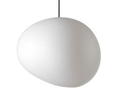 Illuminazione - Lampadari - Sospensione Gregg Outdoor Grande - / L 46 cm di Foscarini - Grande / L 46 cm - Bianco - Polietilene