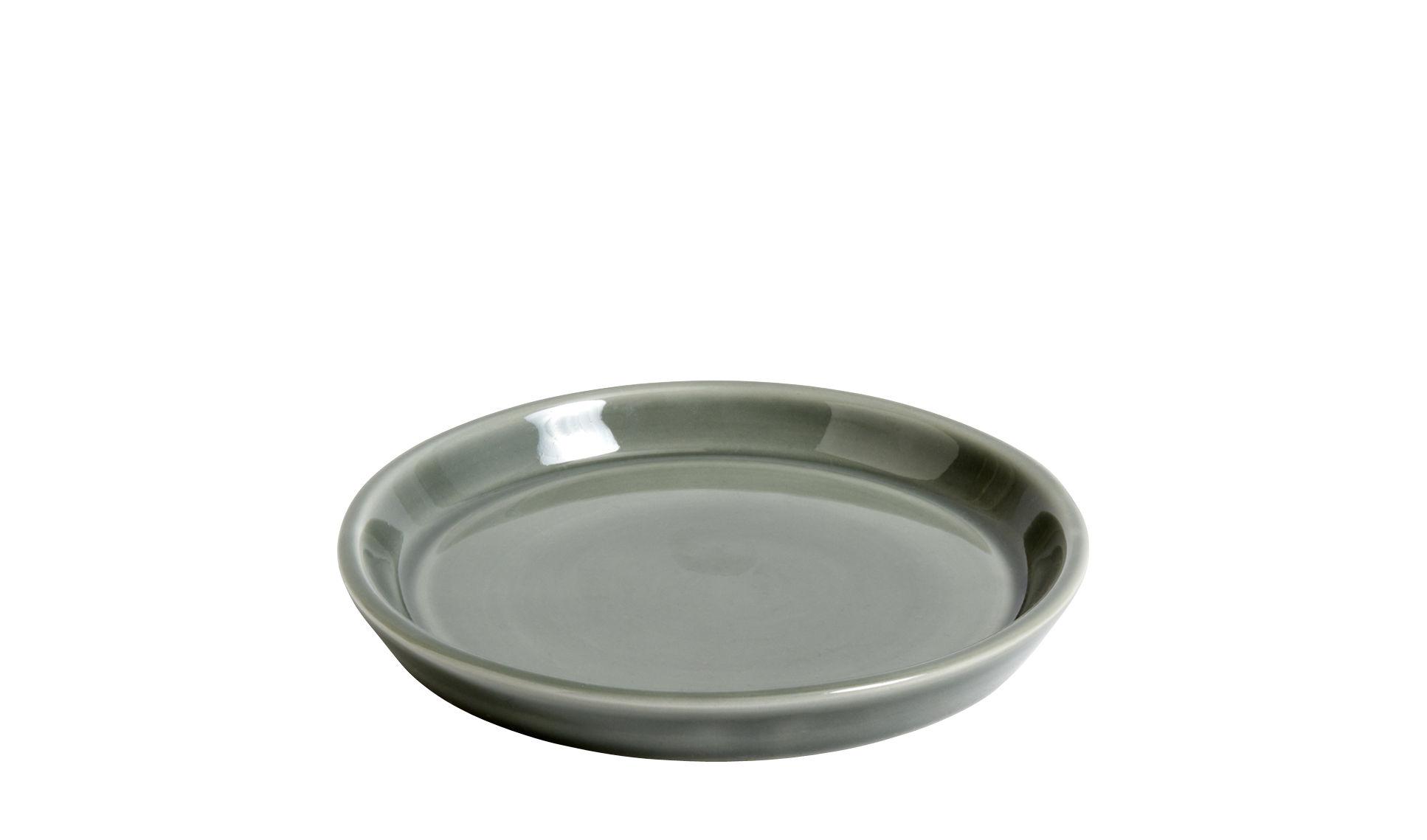 Déco - Pots et plantes - Soucoupe pour pot Botanical Medium / Ø14 cm - Hay - Soucoupe / Gris - Céramique