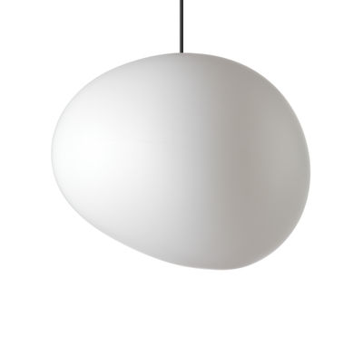 Luminaire - Suspensions - Suspension Gregg Outdoor Grande / L 46 cm - Foscarini - Blanc - Grande / L 46 cm - Polyéthylène