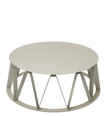 Table basse Auguste / Ø 74 x H 26 cm - Métal - Presse citron mastic en métal