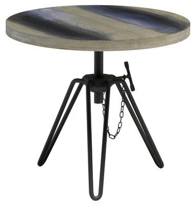 Table basse Overdyed / Hauteur réglable - Ø 50 cm - Diesel with Moroso gris en métal/verre