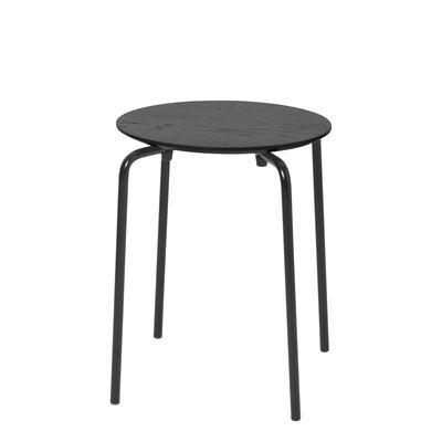 Tabouret empilable Herman / Bois & métal - Ferm Living noir en bois