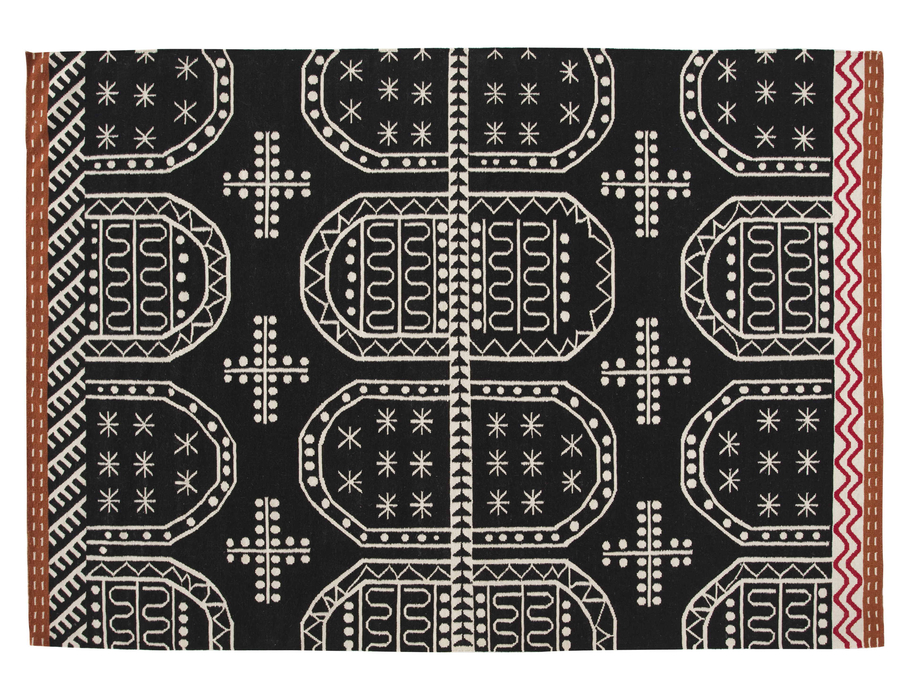 Déco - Tapis - Tapis Kilim Tasili / 240 x 170 cm - Gan - Noir - Laine vierge
