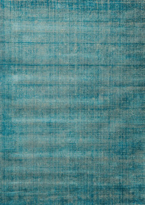 Interni - Tappeti - Tappeto Voyage / 170 x 240 cm - Tessuto a mano - Toulemonde Bochart - 170 x 240 cm / Turchese - Lana, Seta vegetale