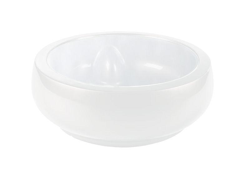 Arredamento - Tavolini  - Tavolino Chubby - versione laccata di Slide - Laccato bianco - Polyéthylène recyclable laqué, Vetro