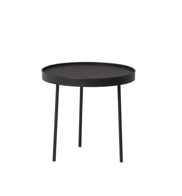 Arredamento - Tavolini  - Tavolino Stilk Medium - / Ø 45 x H 42 cm di Northern  - Medium / nero - Acciaio laccato, Stratificato compatto