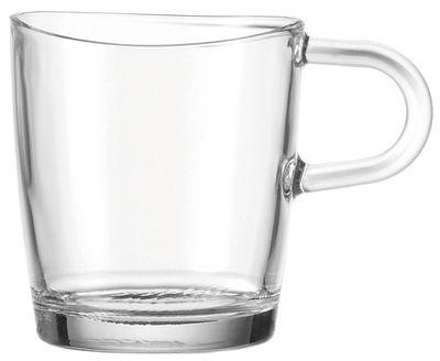 Tavola - Tazze e Boccali - Mug Loop con manico - Leonardo - Trasparente - Vetro