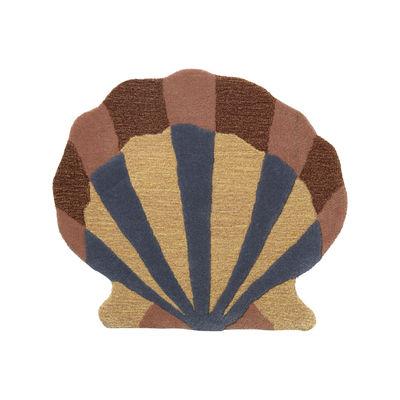 Dekoration - Für Kinder - Shell Teppich / Wandschmuck - 79 x 70 cm - Ferm Living - Mehrfarbig - Baumwolle, Wolle aus Neuseeland
