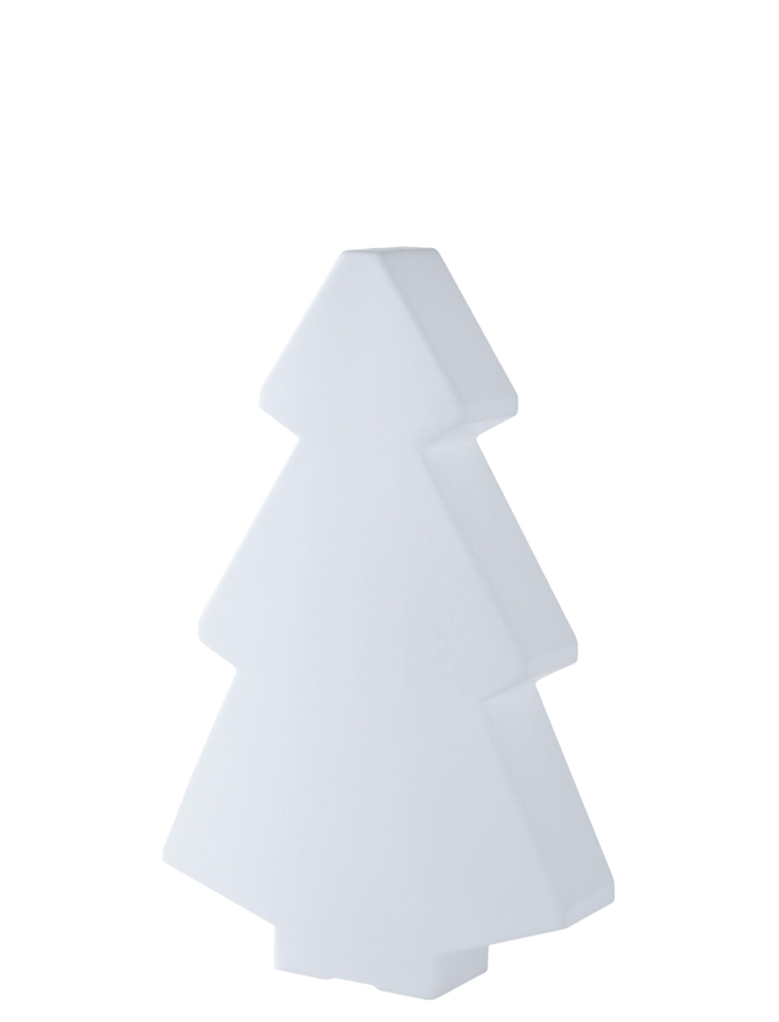 Leuchten - Tischleuchten - Lightree Indoor Tischleuchte H 45 cm - für innen - Slide - Weiß - Polyéthylène recyclable rotomoulé