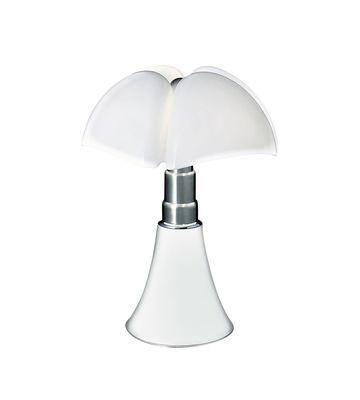 Leuchten - Tischleuchten - Minipipistrello LED Tischleuchte / H 35 cm - Martinelli Luce - Weiß - galvanisierter Stahl, lackiertes Aluminium, Méthacrylate opalin