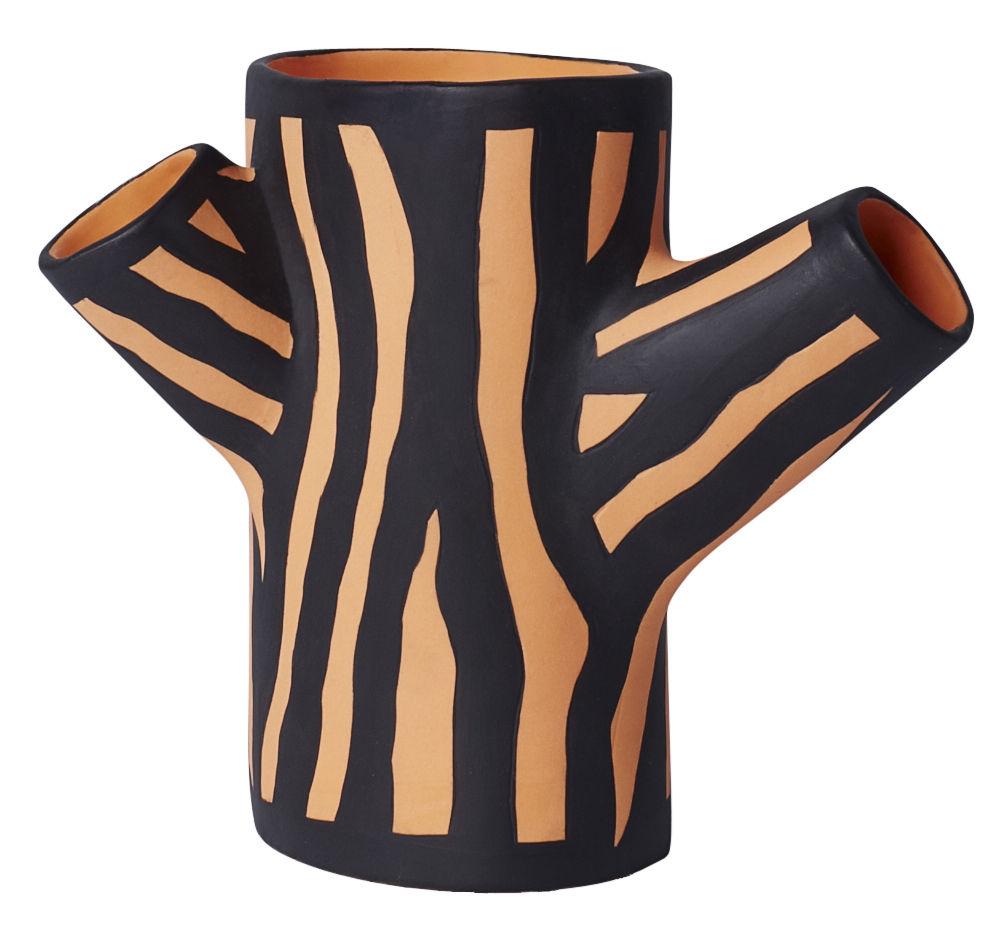 Déco - Vases - Vase Tree Trunk Small / H 15 cm - Peint à la main - Hay - Orange - Céramique