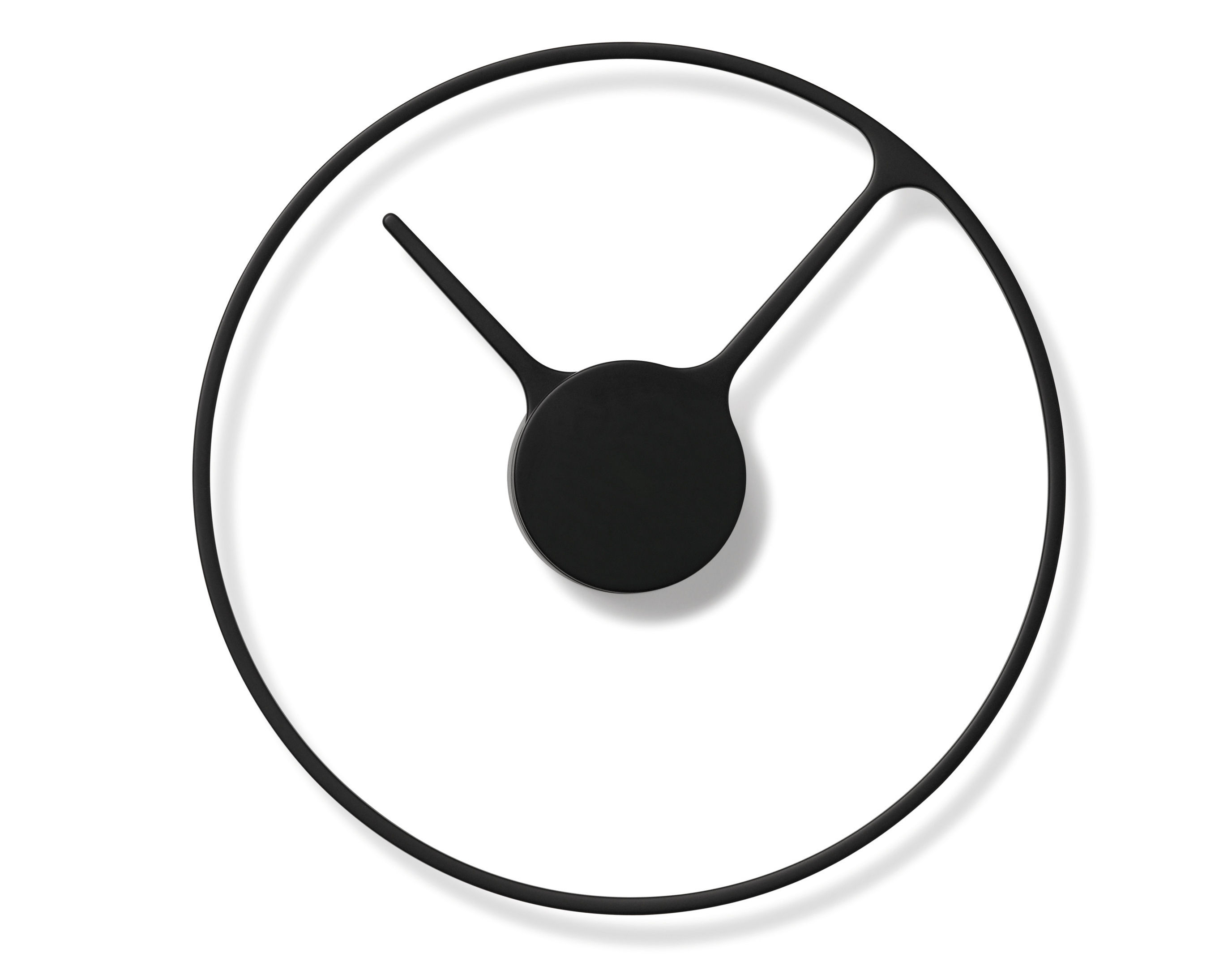 Decoration - Wall Clocks - Stelton Time Large Wall clock -  Ø 30 cm by Stelton - Black - Aluminium