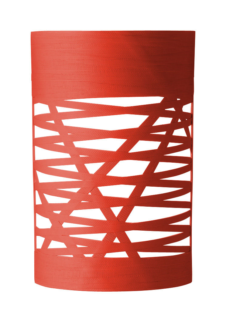 Lighting - Wall Lights - Tress Mini Wall light - H 40 cm by Foscarini - Red - Composite material, Fibreglass