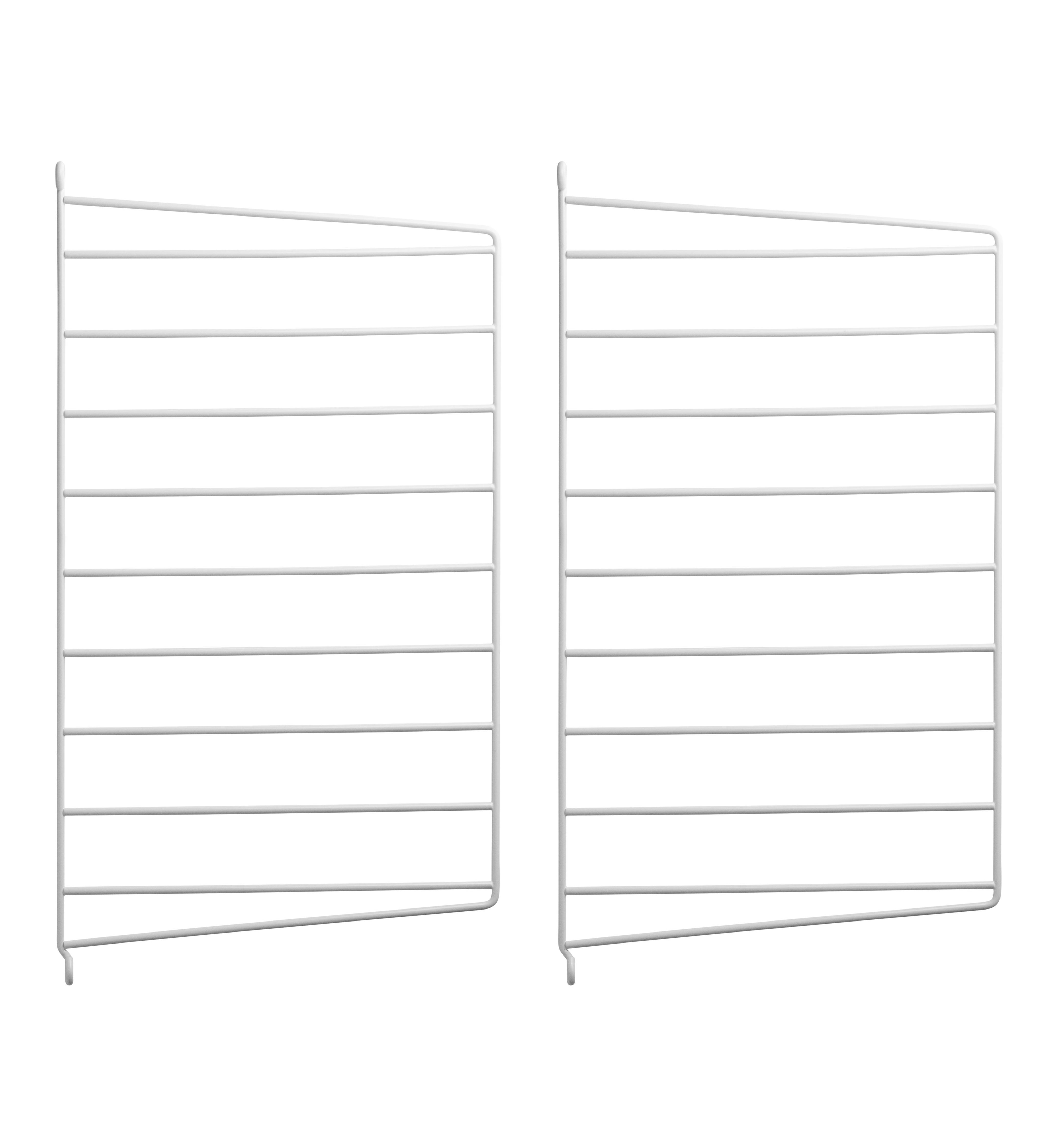 Furniture - Bookcases & Bookshelves - String system Wall mount - / H 50 x D 30 cm - Set of 2 by String Furniture - White - Lacquered metal