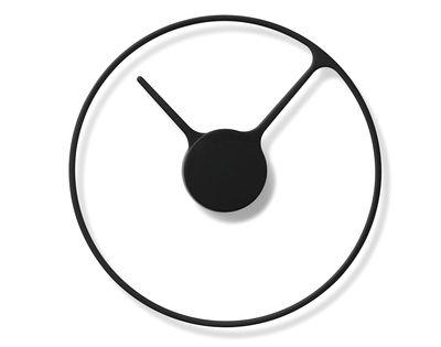 Dekoration - Uhren - Stelton Time Large Wanduhr / Ø 30 cm - Stelton - Schwarz - Aluminium