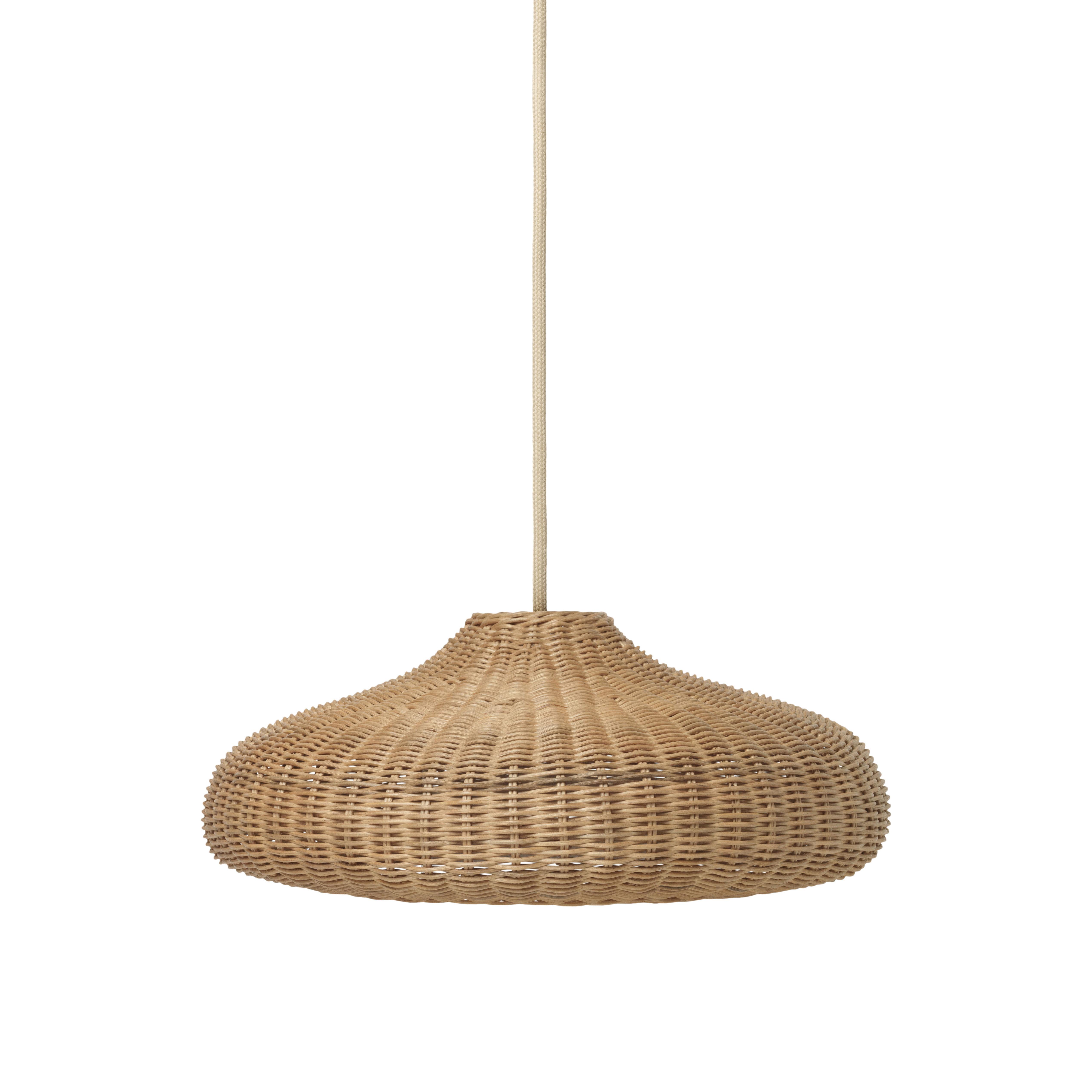 Luminaire - Suspensions - Abat-jour Braided / Rotin - Ferm Living - Naturel - Rotin