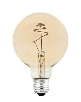 Ampoule LED filaments E27 Shanghai SPIRAL / 4,5W= 45W - Pop Corn doré en verre