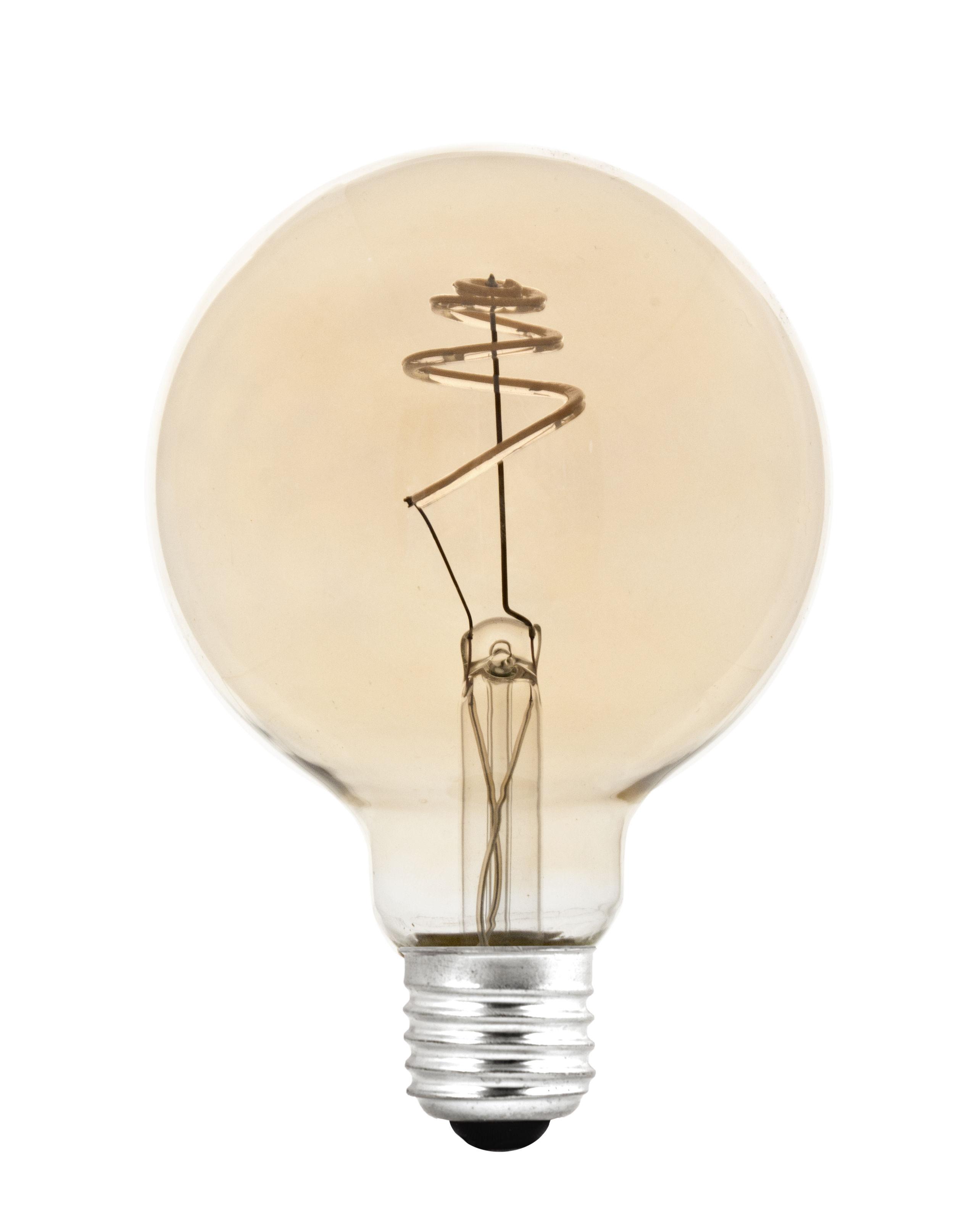 Luminaire - Ampoules et accessoires - Ampoule LED filaments E27 Shanghai SPIRAL / 4,5W= 45W - Pop Corn - SPIRAL / Doré - Verre