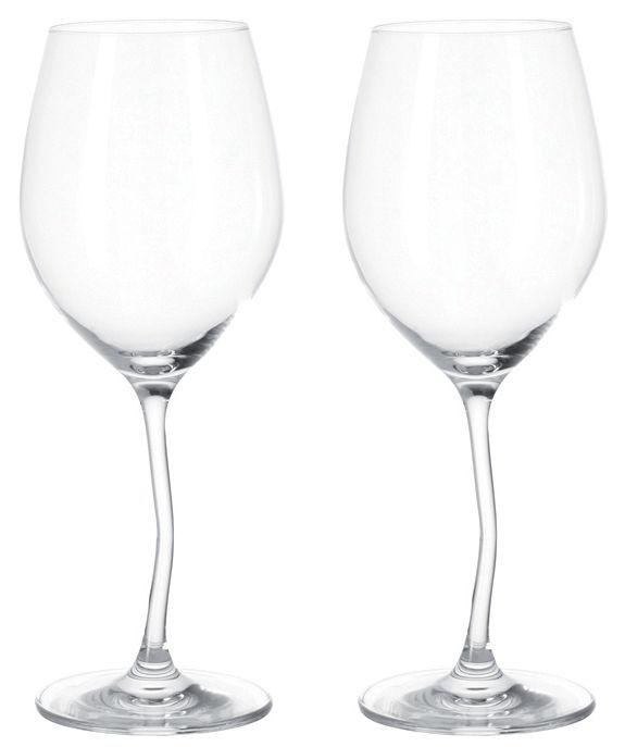 Tavola - Bicchieri  - Bicchiere di vino Modella / Set da 2 - Leonardo - Trasparente - Vetro