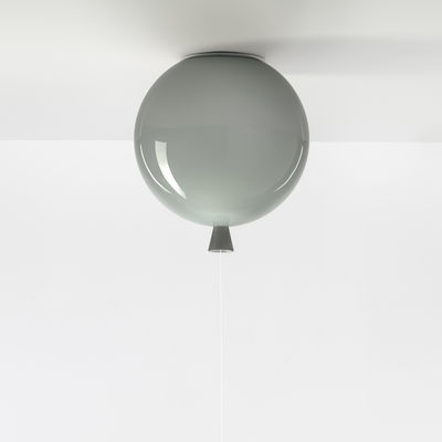 Decoration - Children's Home Accessories - Memory Small Ceiling light - / Ø 25 cm - Glass by Brokis - Grey - Mouth blown glass