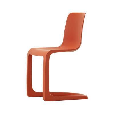 Furniture - Chairs - EVO-C Chair - / Polypropylene by Vitra - Poppy red - Polypropylene
