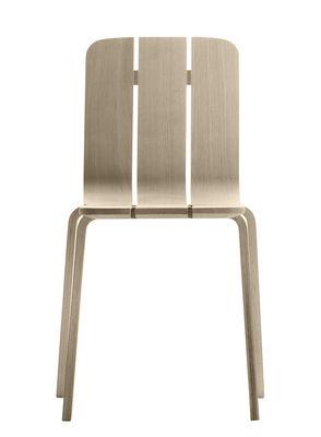 Mobilier - Chaises, fauteuils de salle à manger - Chaise Saski / Chêne tressé - Alki - Chêne naturel - Chêne massif, Multiplis de chêne