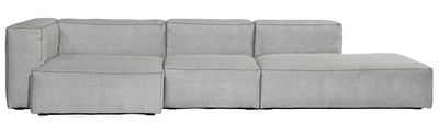 Furniture - Sofas - Soft Mags Corner sofa - Left armrest - L 314 cm by Hay - Light grey / Divina fabric -  Tissu Divina, Goose feather, Particle board, Super soft foam